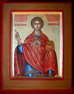 Szent Panteleimon nagyvértanú, csodatévő szent szegény